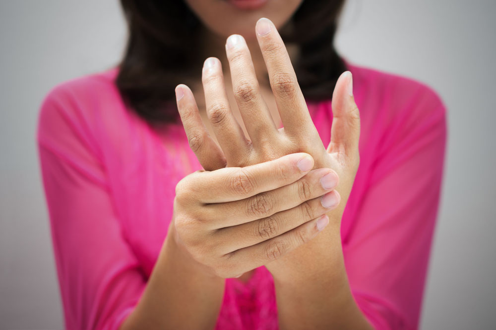 woman with Carpal Tunnel Syndrome.